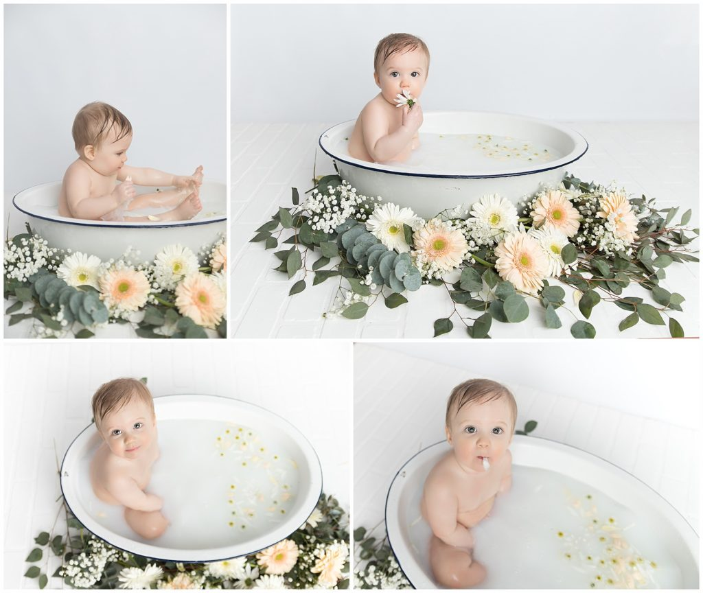 Connecticut Baby Milk Bath and Cake Smash Photographer - Litchfield, Fairfield County CT, Westchester County NY