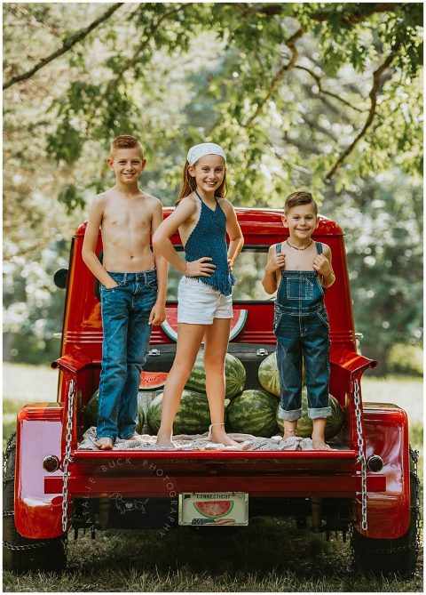 Connecticut Family Photographer Mini Sessions Red Truck Watermelon Fall & Holiday Mini Sessions